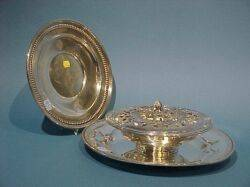 Sterling Silver Potpourri Bowl and Two Trays
