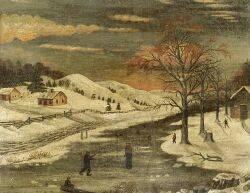 American School 19th Century Winter Landscape