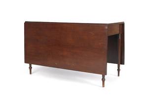 Sheraton mahogany dropleaf dining table
