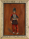 French oil on panel military portrait
