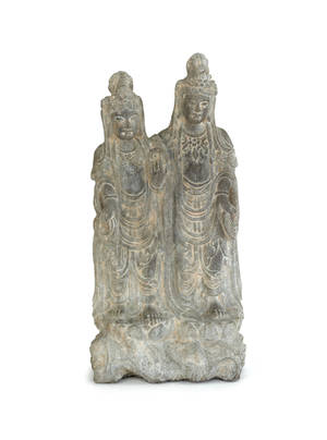Early Chinese carved stone carved statue of Buddhas