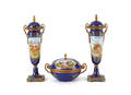 Porcelain threepiece garniture set