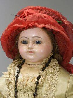 Large WaxoverPapier Mache Doll in Commercial Dress