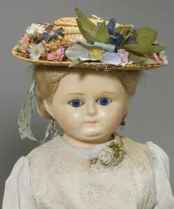 WaxoverComposition Shoulder Head Doll