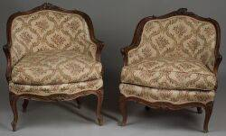 Pair of Louis XV Style Diminuative Bergeres