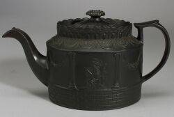 Staffordshire Black Basalt Teapot and Cover