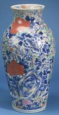 Pair of Large Japanese Porcelain Vases