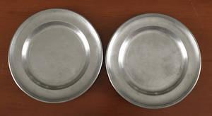 Two Philadelphia pewter plates ca 1815
