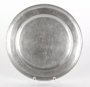 Middletown Connecticut pewter plate ca 1785