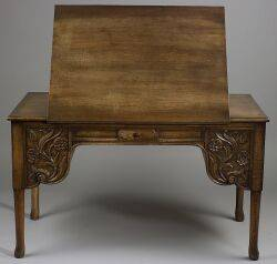 Renaissance Revival Oak Drafting Table