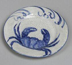 Dedham Pottery Crab Bread and Butter Plate