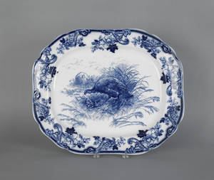 Cauldon flow blue turkey platter