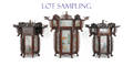 Nineteen Chinese carved hardwood lanterns with painted screensProvenance Pennsylvania educational institution