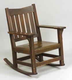 Arts  Crafts Mahogany Rocking Chair