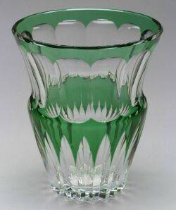 Baccarat Overlay Cut Glass Vase