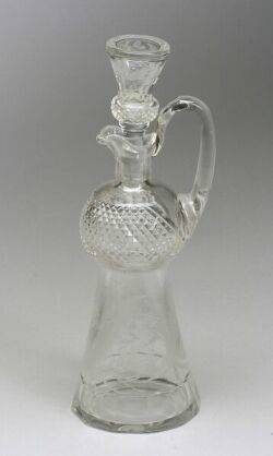 Thistle Etched Glass Decanter