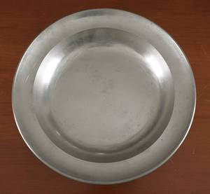 Albany New York pewter deep dish ca 1830