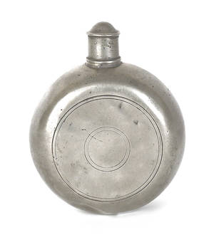 American pewter flask 18th c