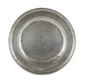 New York pewter deep dish ca 1740