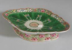 Chinese Export Porcelain Footed Fruit Bowl