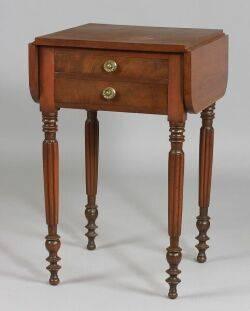 Federal Cherry and Mahogany Veneer Work Table