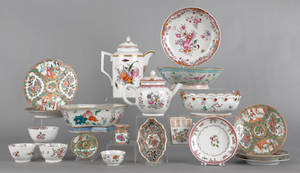 Chinese export porcelain tablewares