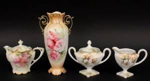 4 Pieces RS Prussia Porcelain