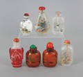 Seven Chinese glass snuff bottles