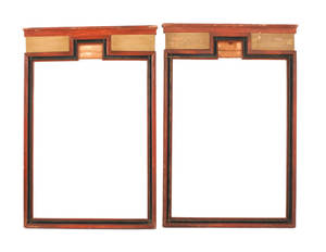 Pair of painted pine frames