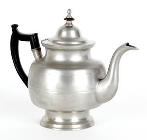 Middletown Connecticut pewter teapot ca 1830