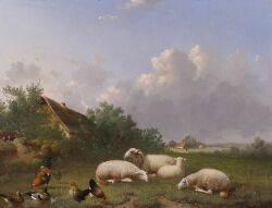 Jacob van Dieghem Dutch d 1873 In the Pasture
