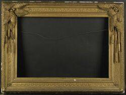 Continental School 19th Century Elaborate Frame with a Fern Wheat and Cattail Motif
