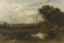 American School 19th Century Open Landscape with Birch Trees