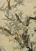 Edna Hibel American b 1917 The Peach Tree