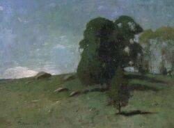 Emil Carlsen American 18531932 Hillside Landscape