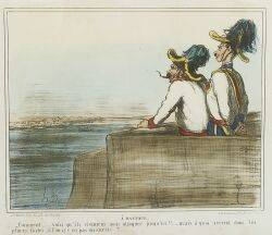 Honore Daumier French 18081879 Lot of Four Prints Including Pauvre Giulay A Mantoue