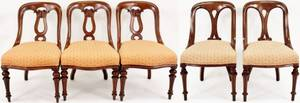 Set of 12 Victorian Walnut Dining Chairs