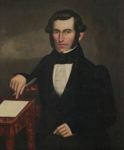 Erastus Salisbury Field Connecticut River Valley and Eastern New York 18051900 Portrait of Enos Adams
