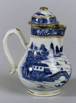 Blue and White Chinese Porcelain Covered Teapot