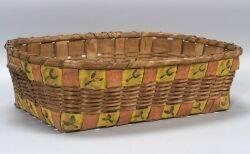 Potato Stamp Decorated Woven Splint Basket