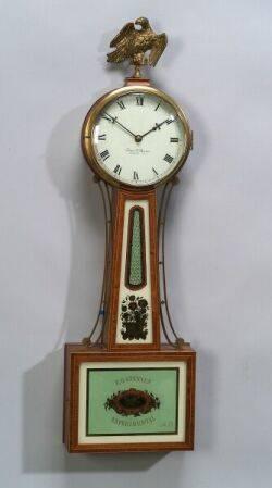 FederalStyle Mahogany Inlaid Banjo Timepiece