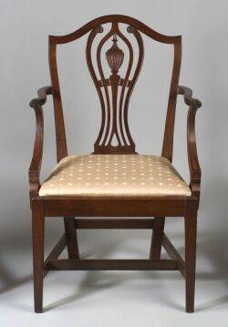 Federal Mahogany Carved Pedestalback Armchair
