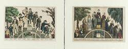 Lot of Two Lithographs N Currier publisher American 18381856 The Life and Age of Woman