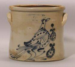 Cobalt Decorated Salt Glazed Stoneware Crock
