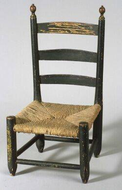 Painted Pine Childs Ladderback Chair