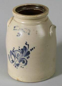 Cobalt Decorated Salt Glazed Stoneware Jar