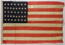 Woven Wool and Cotton Flag