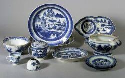 Thirteen Canton Porcelain Table Items