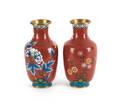 Pair of cloisonn vases