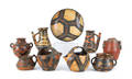 Collection of North African pottery